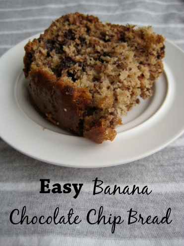 Easy Banana Chocolate Chip Bread - The First Year Blog #BananaBread