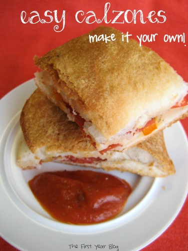 Easy Calzones - The First Year Blog #Calzones