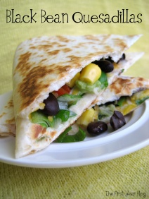 Black Bean Quesadillas - The First Year Blog