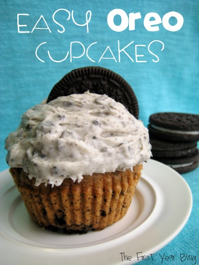 Easy Oreo Cupcakes - The First Year Blog
