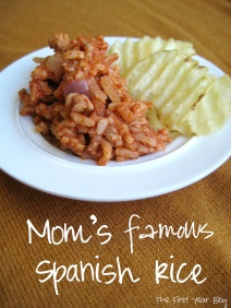 Mom's Famous Spanish Rice - The First Year Blog