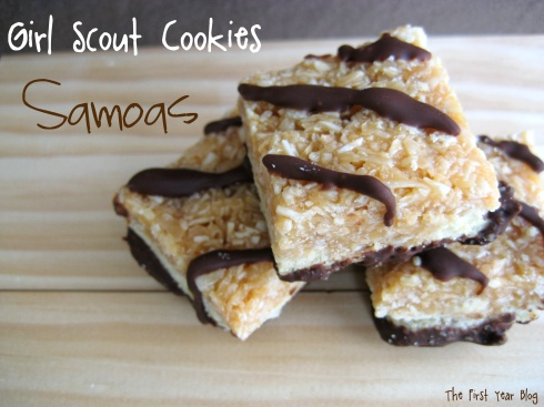 Homemade Samoas - The First Year Blog #Samoas