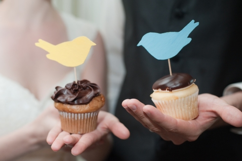 Cupcake Toppers, Rustic Wedding Series - The First Year Blog #Wedding #CakeTopper