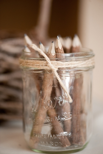 Wooden Pencils, Rustic Wedding Series - The First Year Blog #Wedding