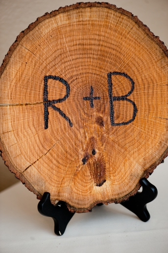 Wood Burned Initials, Rustic Wedding Series - The First Year Blog #Wedding #Rustic