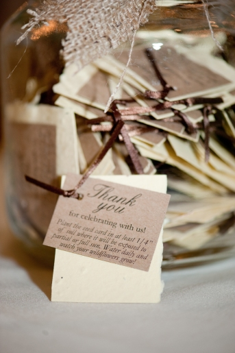 Guest Favor Seed Paper, Rustic Wedding Series - The First Year Blog #Wedding #GuestFavor