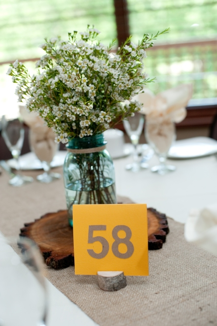 Personalized Table Numbers - The First Year Blog #WeddingTableNumbers #Rustic