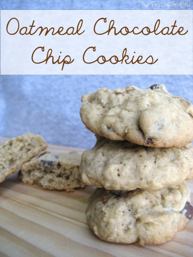 Oatmeal Chocolate Chip Cookies - The First Year Blog #OatmealChocolateChipCookies