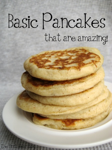 Basic Pancakes that are amazing - The First Year Blog #EasyPancakes