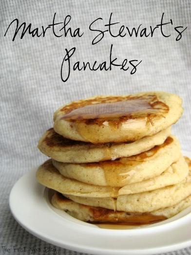 Martha Stewart's Pancakes - The First Year Blog #EasyPancakes