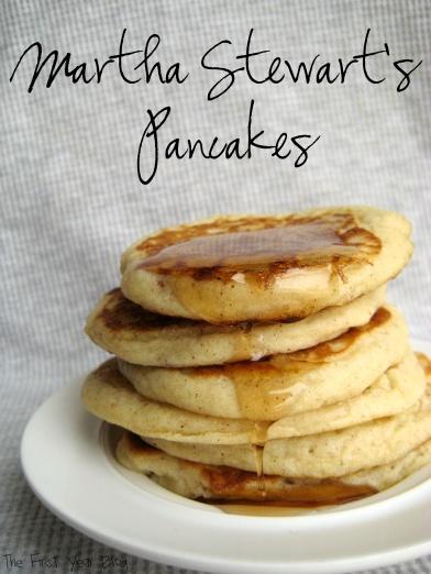 Martha Stewart's Pancakes - The First Year Blog #EasyPancakes