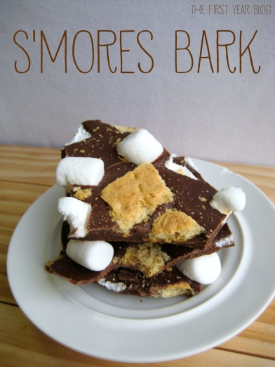S'mores Bark - The First Year Blog #SmoresBark