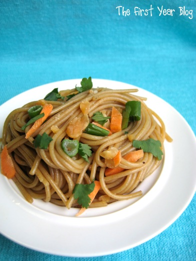 Spicy Thai Pasta - The First Year Blog #SpicyThaiPasta