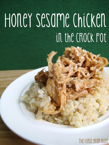 Honey Sesame Chicken in the Crock Pot - The First Year Blog #HoneySesameChicken #CrockPot