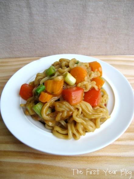 Spicy Peanut Thai Ramen Noodle Upgrade - The First Year Blog